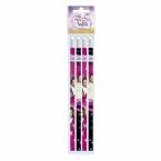 Ołówki z gumką 4 szt. | Violetta 18