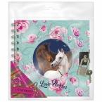 Pamiętnik spiralny z kłódką B | Konie
