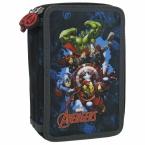 Piórnik z wyposażeniem | trójkomorowy Avengers 11