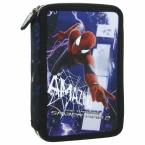 Piórnik z wyposażeniem   dwukomorowy  Amazing Spider-man 19