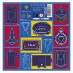 Nalepki 16x16 FC Barcelona