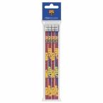 Ołówki z gumką 4 szt. | FC Barcelona 10