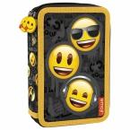 Piórnik z wyposażeniem | dwukomorowy Emoji 10
