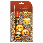 Zestaw 4 przyborów   szkolnych Emoji 10