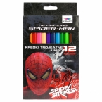 Kredki trójkątne grube | 12 kolorów Amazing | Spider-man 11