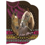 Notes kształtowy A6 | Konie