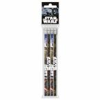 Ołówki z gumką 4 szt. | Star Wars 16