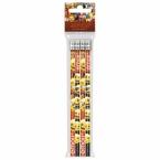 Pencils with eraser 4 pcs | Emoji 10