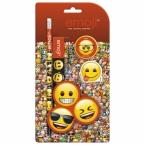 4 pcs stationery set Emoji 10