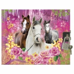 Hardcover diary Horses