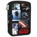 Piórnik z wyposażeniem | dwukomorowy Star Wars 18