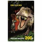 Zestaw 200 nalepek Dinozaur